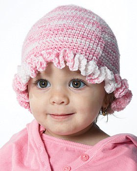 Baby Ruffle Crochet Hat