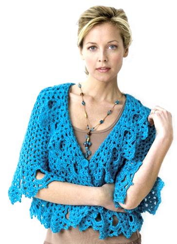 Crochet Dentelle Perlé Cardigan