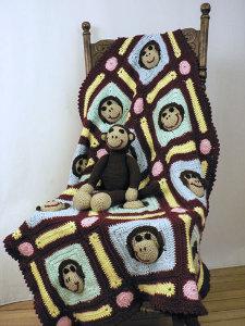 Couverture Singe crochet