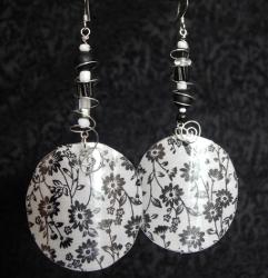 Repurposed Reverse Fabric Earrings