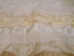 White and Cream Ruffle Dress-1