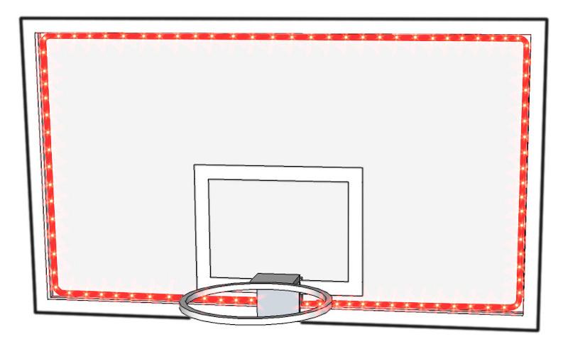 basketball perimeter lights