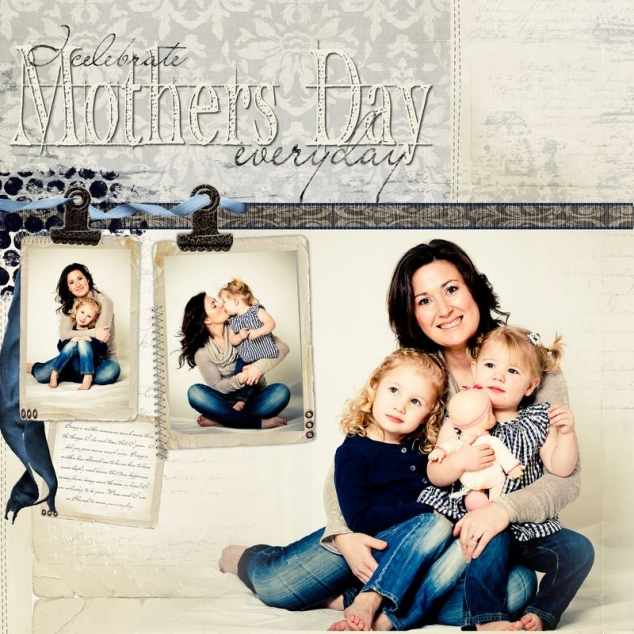 Mothers Day Scrapbook Page