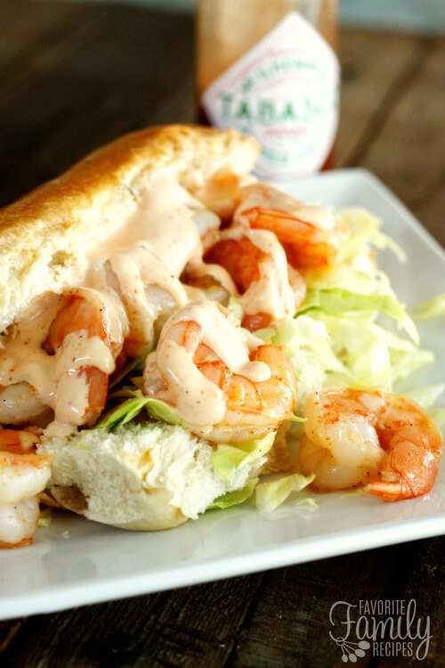 Image result for shrimp po boy with  sauce