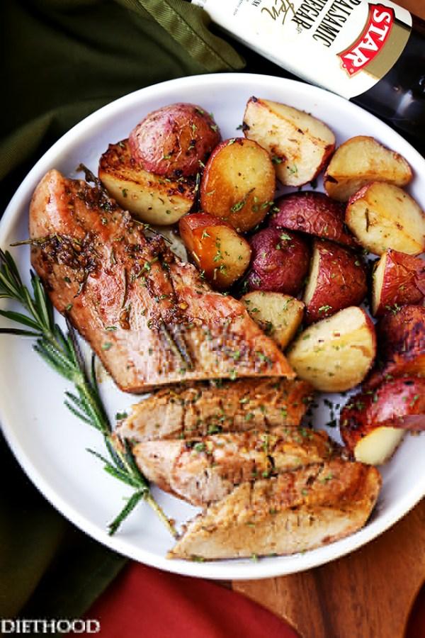 Rosemary Balsamic Roasted Pork Loin