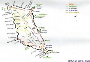 Marettimo Mappa Trekking
