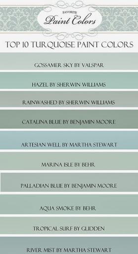 my top ten turquoise paint colors favorite paint colors blog