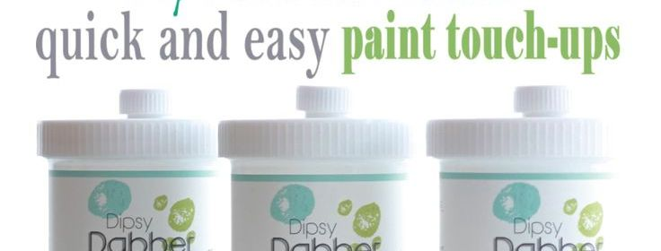 My Favorite Product for QUICK and EASY paint touch-ups {paint storage solution}