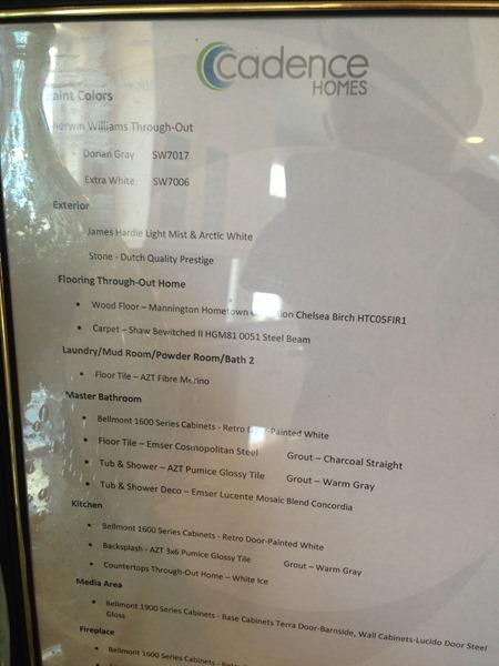 source list - Cadence Homes