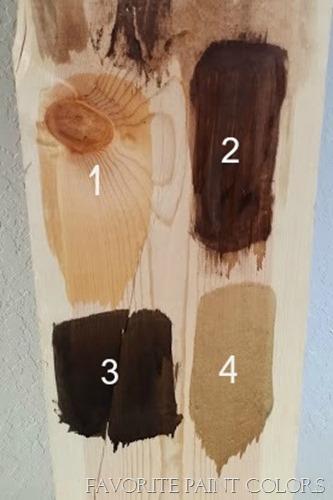 Minwax stain choices