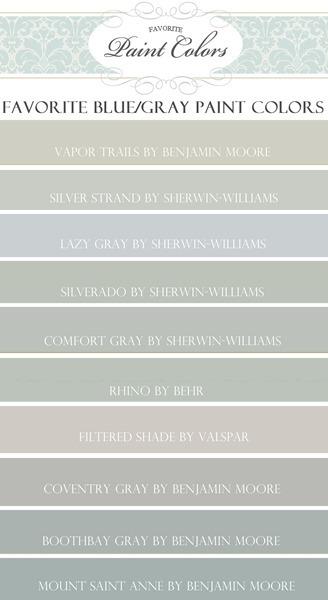 Favorite Blue/Gray Paint Colors