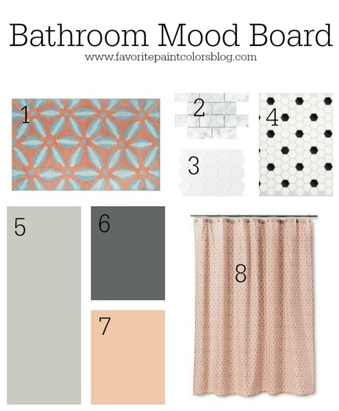 Girls bathroom mood board - Favorite Paint Colors