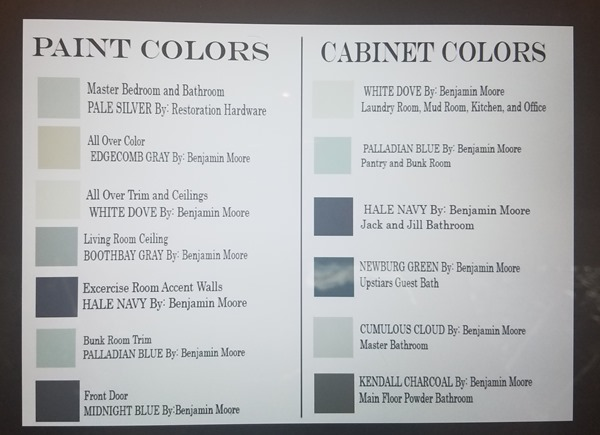 whole house paint color scheme