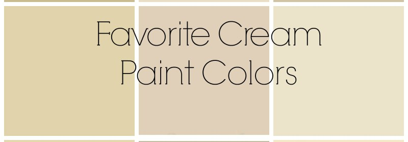 Reader Question + Favorite Cream Paint Colors