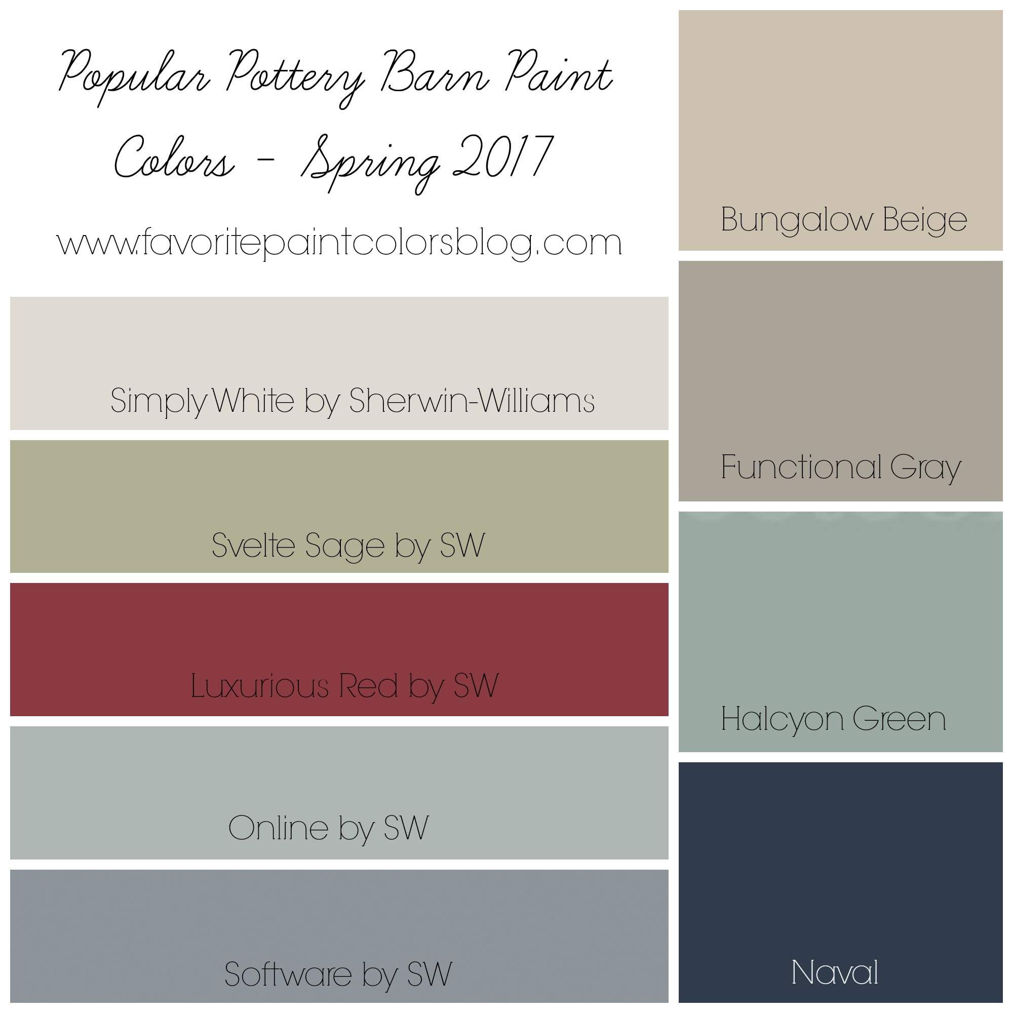 Most Popular Paint Colors Extraordinary Popular Pottery Barn Paint Colors  Favorite Paint Colors Blog Design Inspiration