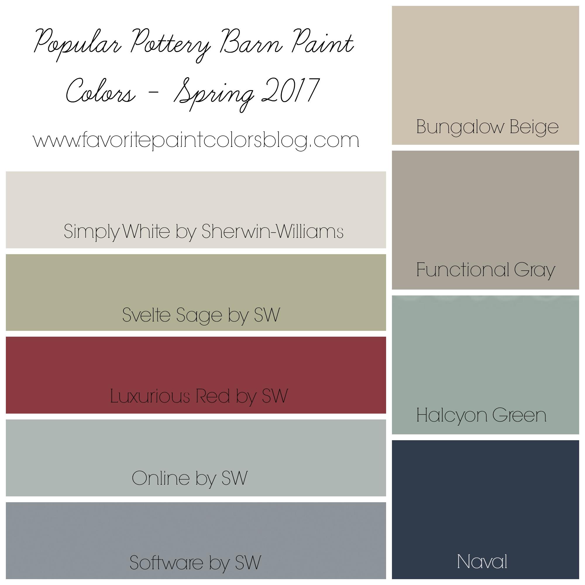 Popular Pottery Barn Paint Colors Favorite Paint Colors Blog