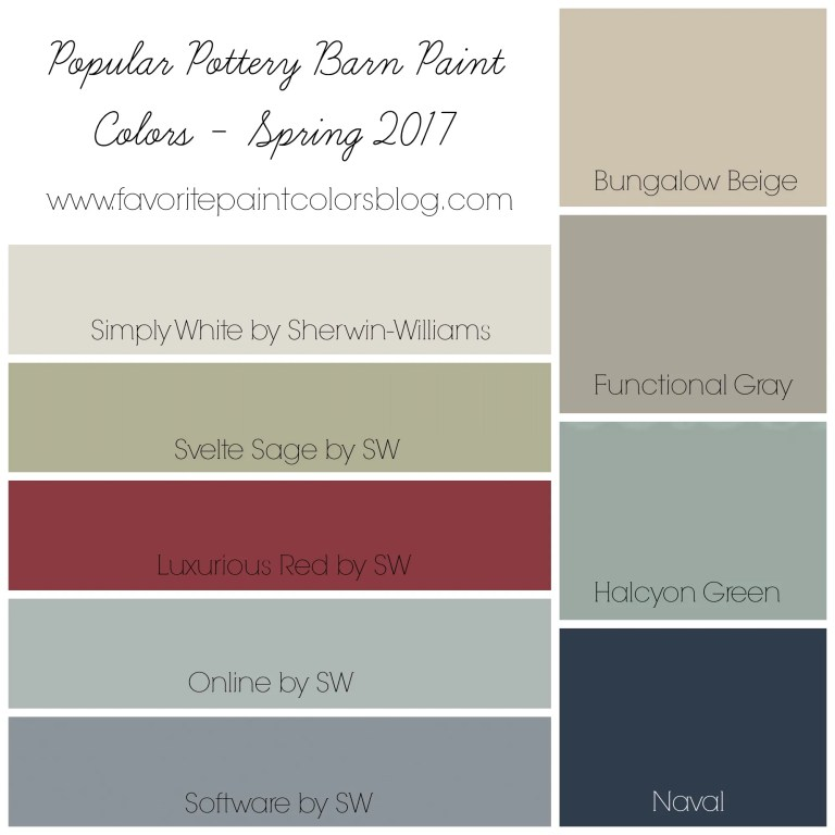 Top 10 Paint Color Posts from 2017