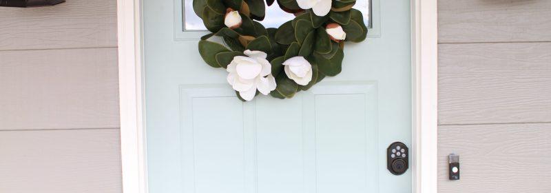 Our New Front Door + Spring Exterior Door Colors