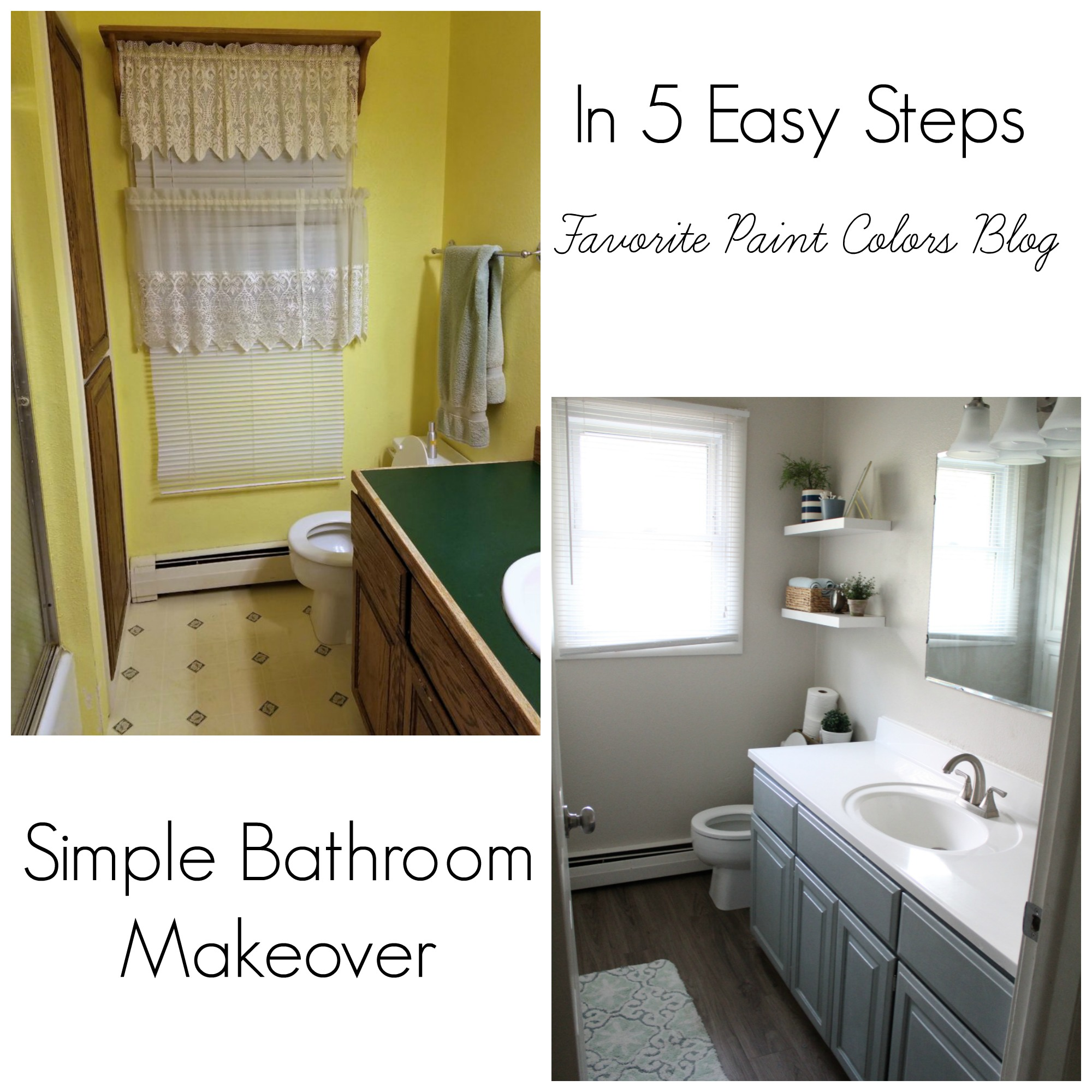 Bathroom Makeovers Price simple bathroom makeover in 5 easy steps | favorite paint colors blog