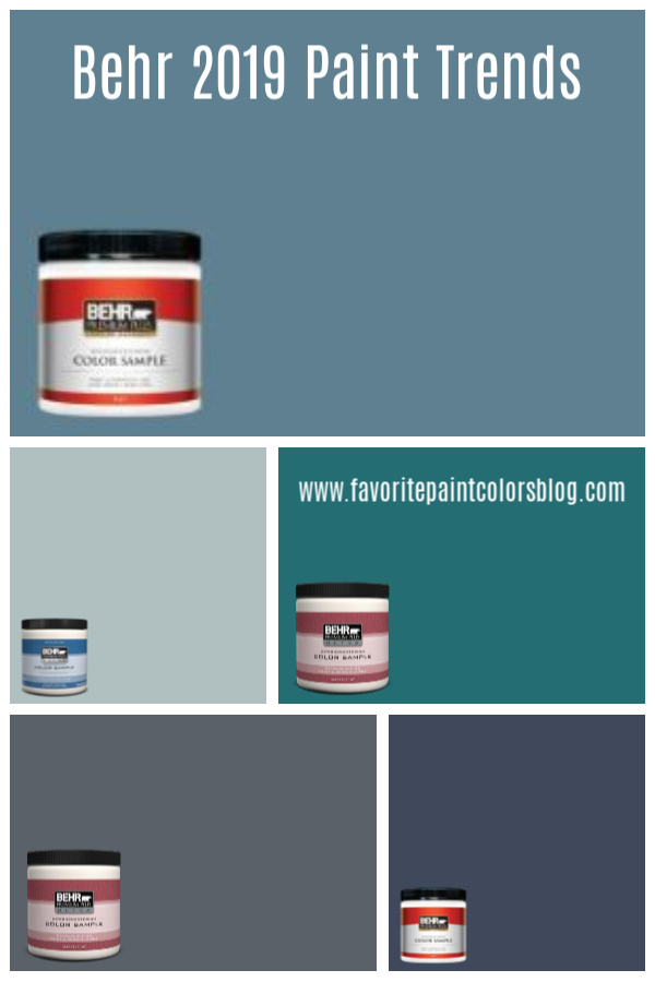 Behr 2019 paint trends are here! If you love blue like I do, then these colors and ideas on how to incorporate them into your home are just for you.
