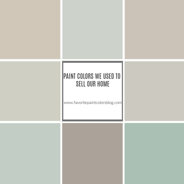 Paint Colors We Used to Sell Our Home