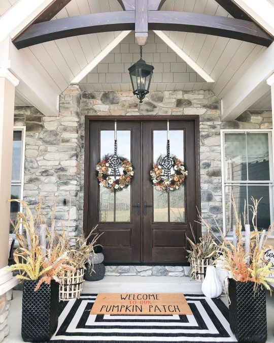 Halloween/fall front porch ideas