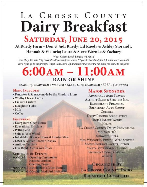 Dairy Breakfast Flyer