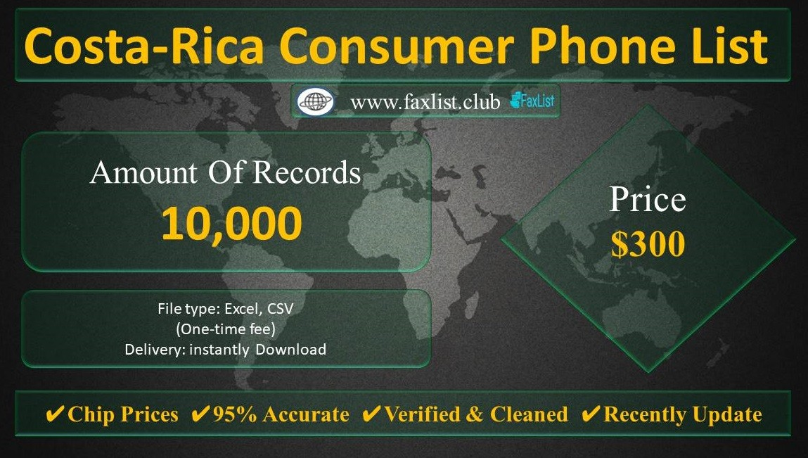 Costa-Rica Consumer Phone List
