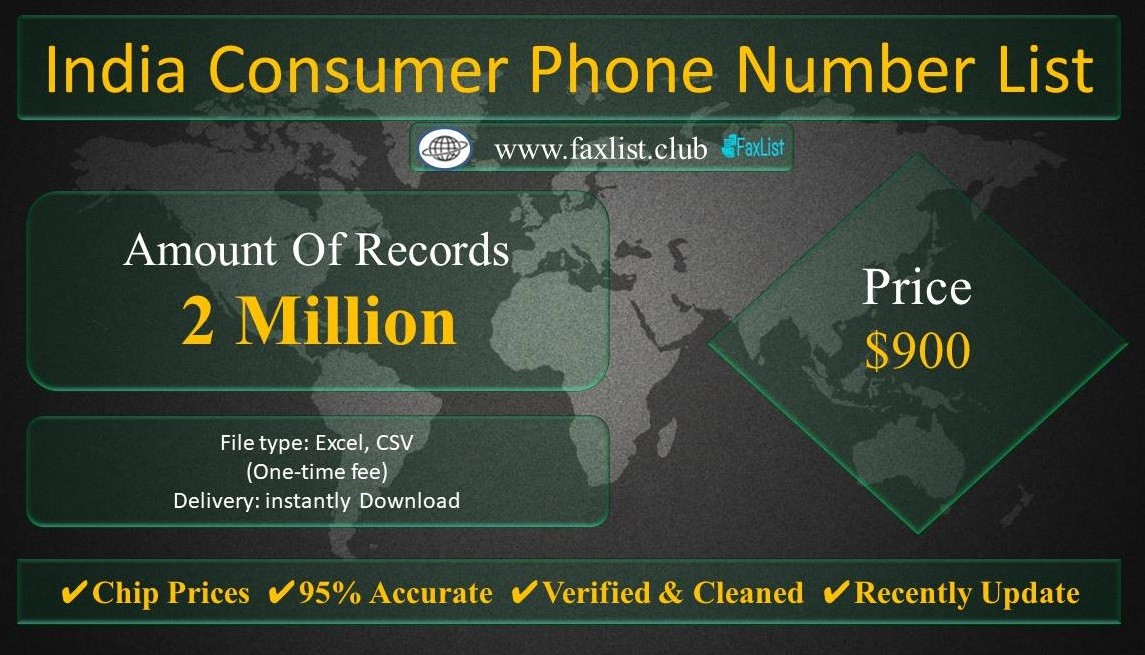 India Consumer Phone Number List