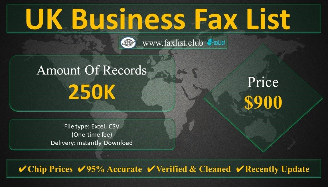 UK Business Fax List