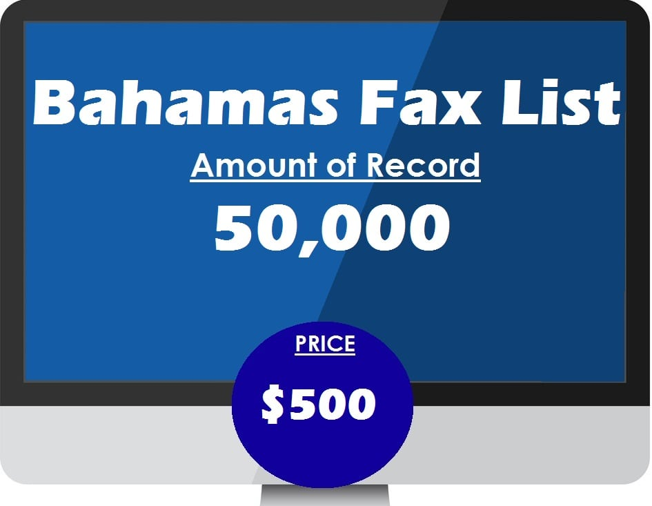 Buy Bahamas Fax List