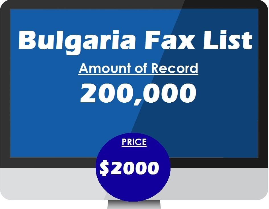 Buy Bulgaria Fax List