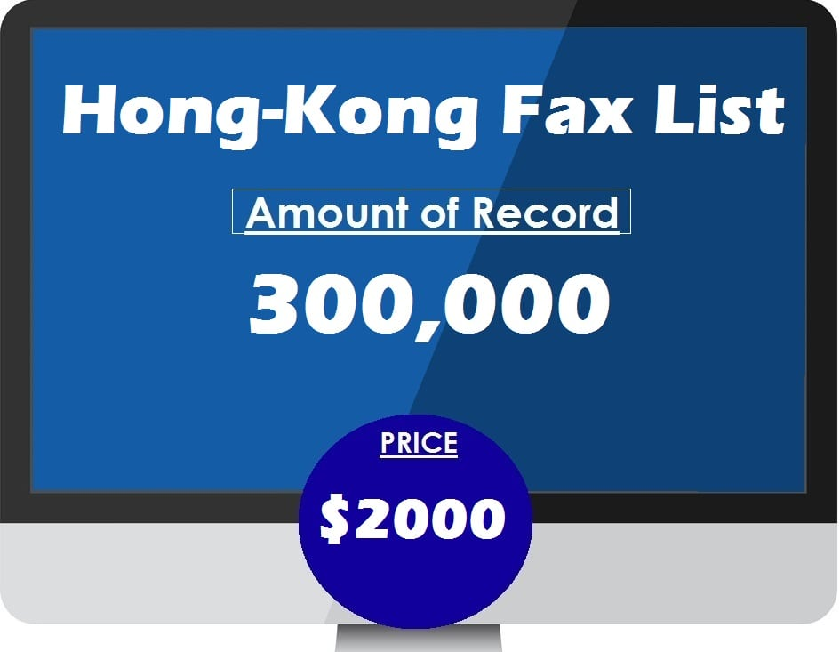 Buy Hong-Kong Fax List
