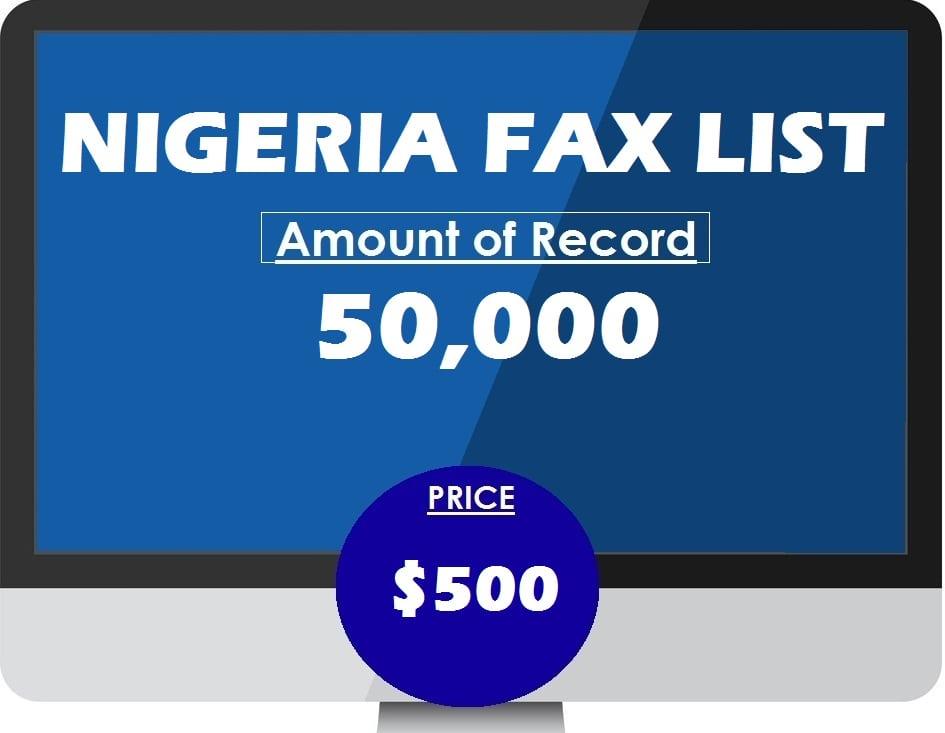Buy NIGERIA FAX LIST