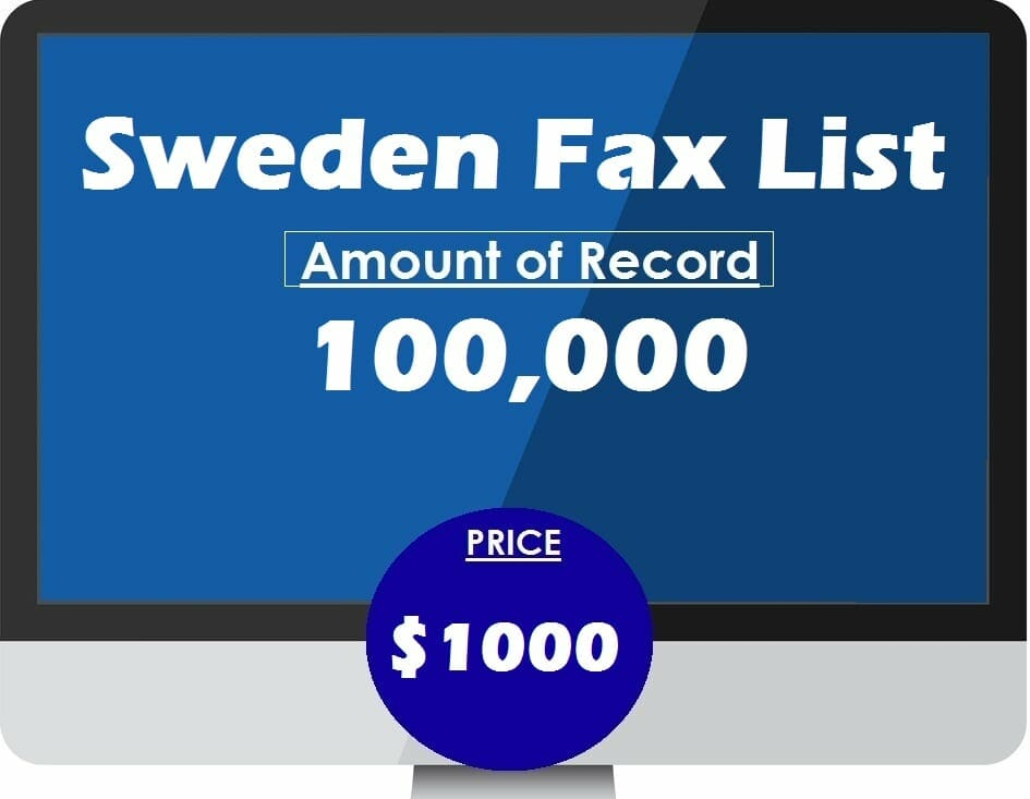 Buy Sweden Fax List