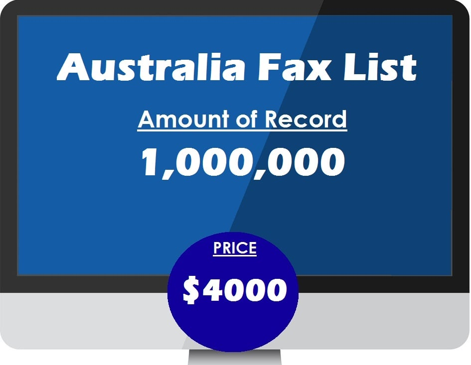 Buy australia fax list