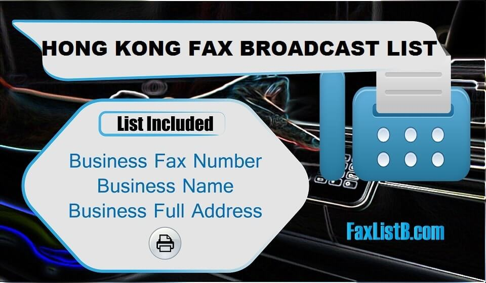 HONG KONG FAX BROADCAST LIST