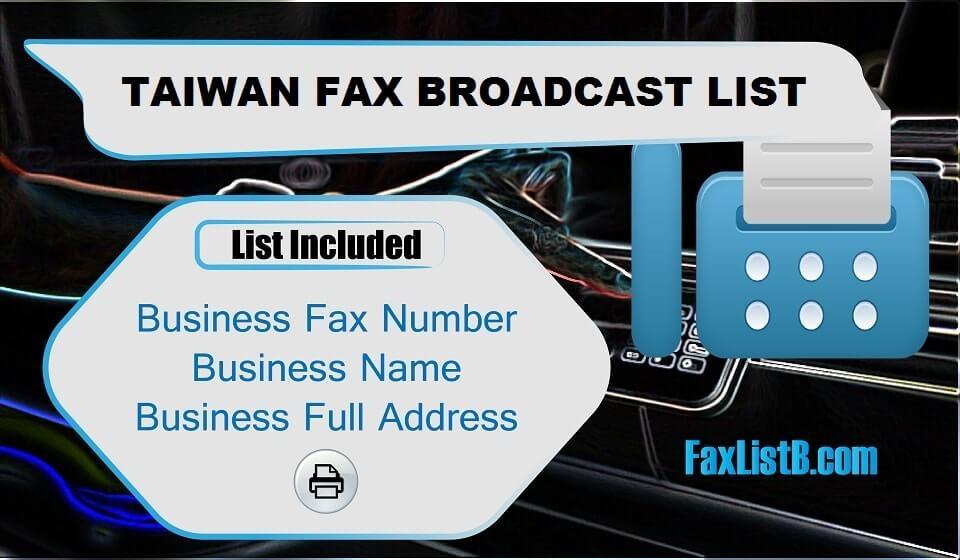 TAIWAN FAX BROADCAST LIST