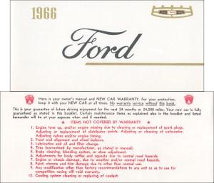 1966 Ford Galaxie & LTD Wiring Diagram Manual Reprint