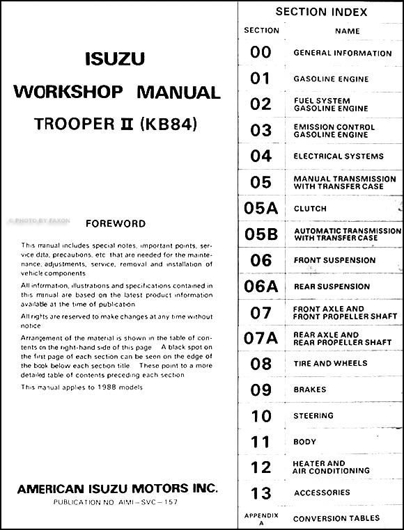 1988IsuzuTrooperORM TOC?resize=580%2C762 diagrams 401361 isuzu alternator wiring diagram isuzu trooper Isuzu Trooper Alternator Bracket at panicattacktreatment.co