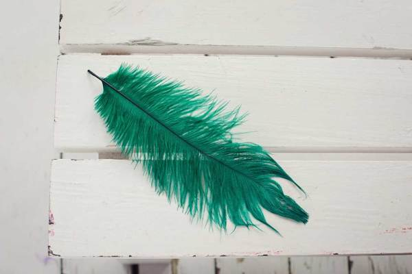 Greenfinch Coloured Ostrich Feather Plume