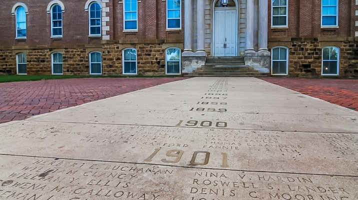 Image result for university of arkansas names on sidewalk