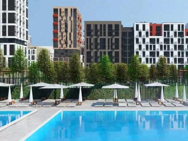 Бассейн в «Файна Таун» будет общедоступным для жителей комплекса