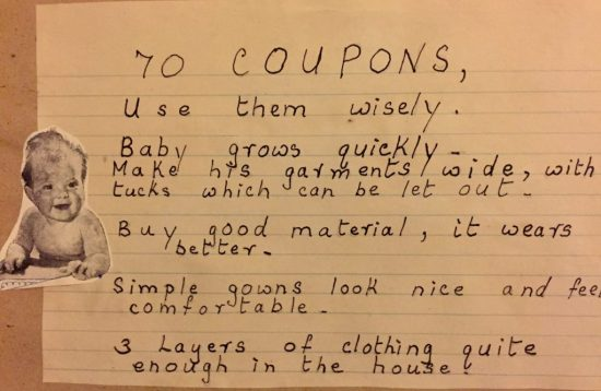 70 coupons with instructions to use them wisely