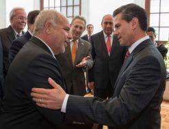 President Pena Nieto Greets Rob Sands