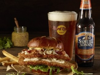 Hard Rock Cafe's Samuel Adams OctoberFest Schnitzel Burger