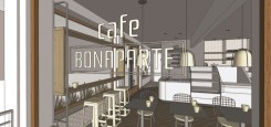 Cafe Bonaparte Hermosa Beach Renderings front