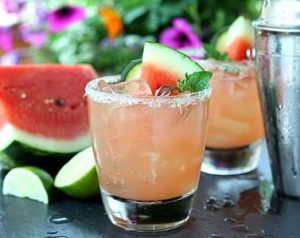Summer watermelon infused cocktail