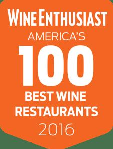 Americas 100 Best Wine Restaurans of 2016