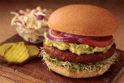 Smart Flour Foods' hamburger buns - Veggie burger with guacamole